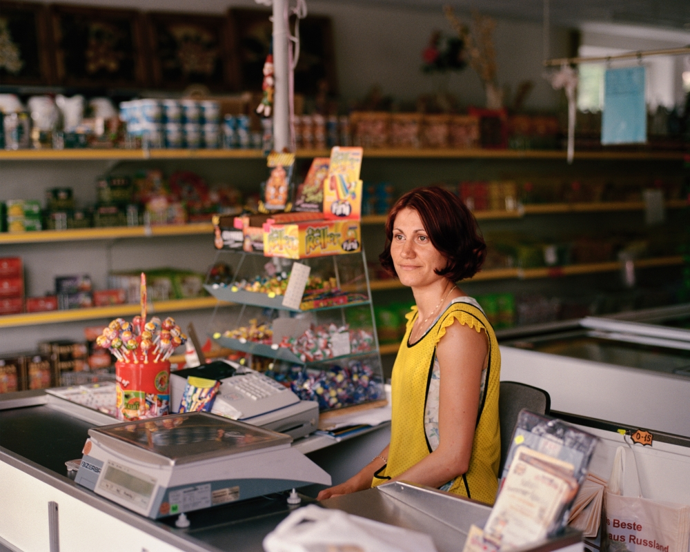 Cashier in a Store for Russian Specialties, Delbrück, 2010