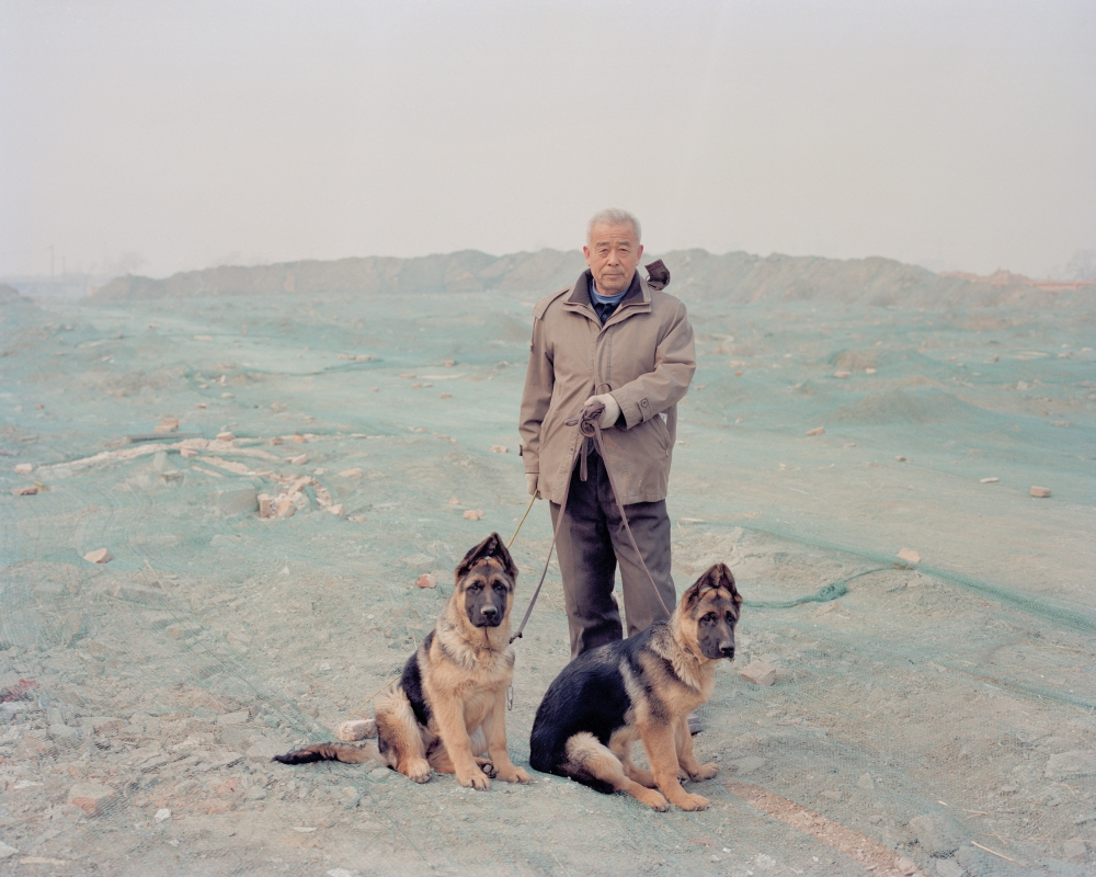 Man with His Dogs, Beijing, China, 2012