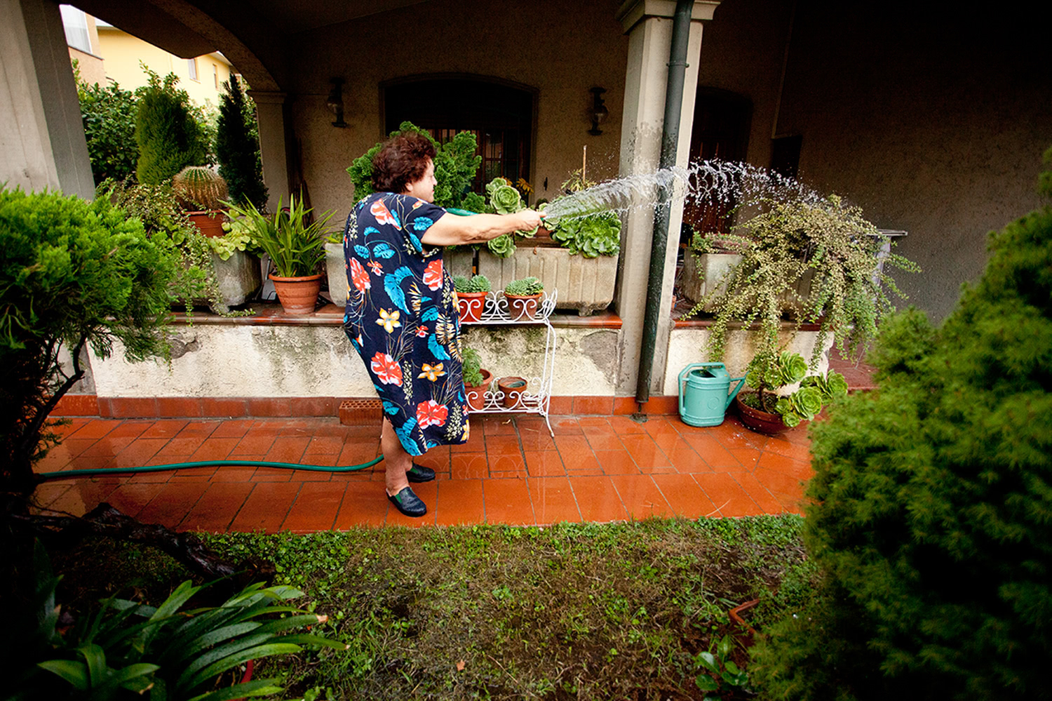 Aunt Janna in the garden,  Lucca , IT  2009