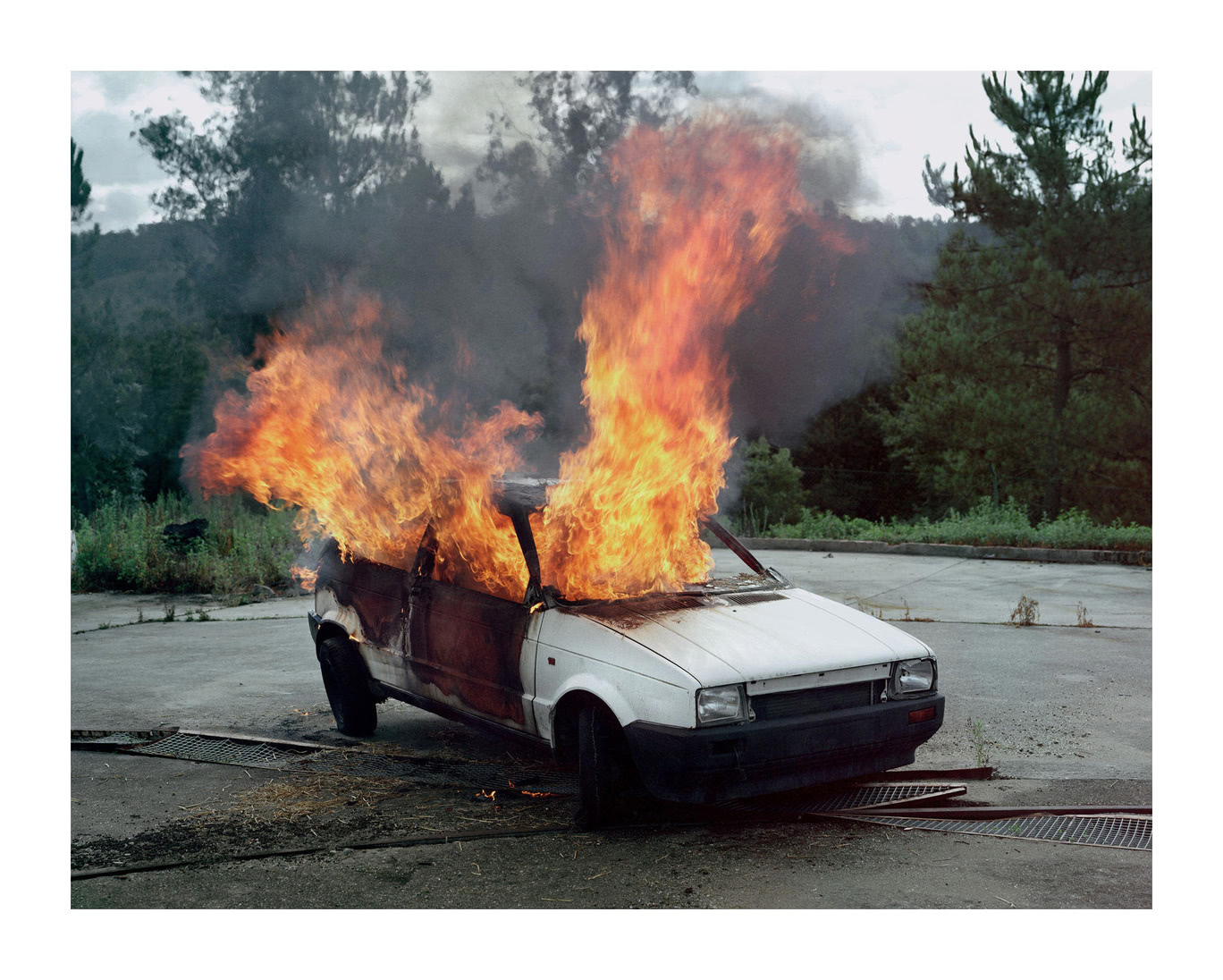 Still Life N° IV. Car on Fire, Galicia, GB,  2010