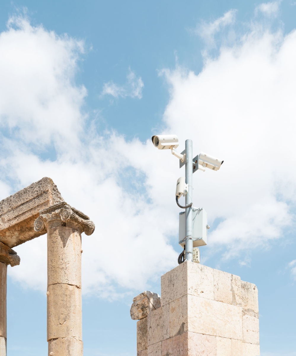 1 CCTV and Ruins, Jerash, JOR, 2019